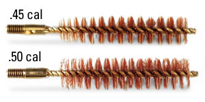 .45 cal and .50 cal cleaning bore brushes for your muzzleloader